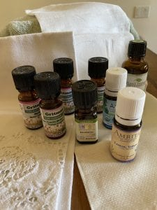essential oils can be added to a foot soak