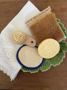 skin brushes, loofah, sponge