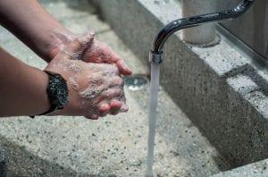 proper hand-washing