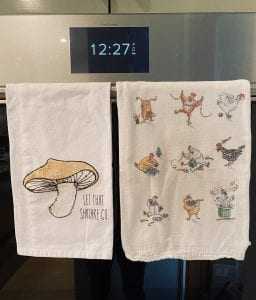 fun and festive tea towels make for a large collection