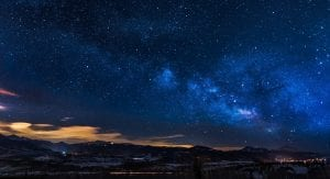 a starry night sky inspires us to a higher ideal and to persevere through challenges