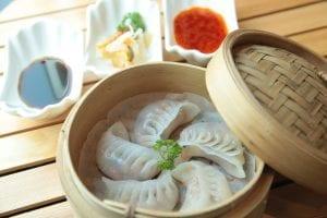 steamed dumplings for Lunar New year